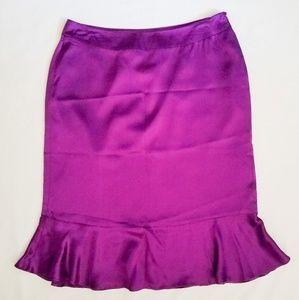 Purple Silk Skirt NWT